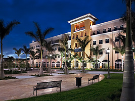 Memorial Hospital Miramar - Exterior at Night