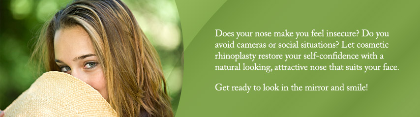 Cosmetic rhinoplasty can restore your self-confidence with a natural looking, attractive nose that suits your face
